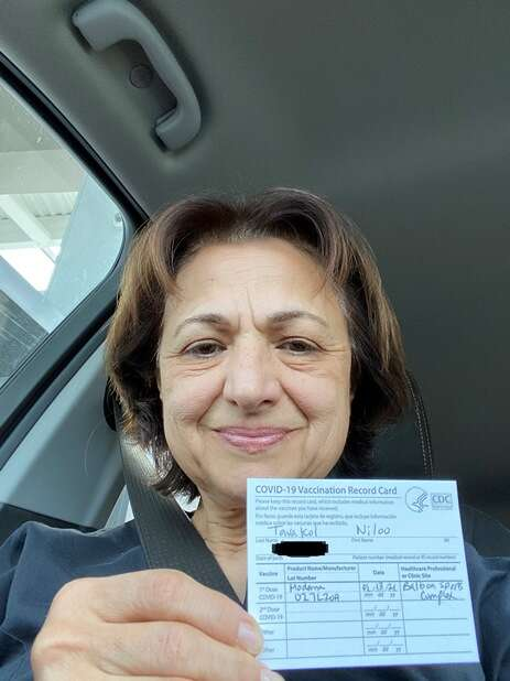 Dr. Niloo Tavakol vaccinated for COVID